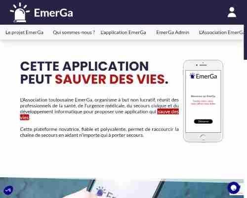 Site d'EmerGa, association loi de 1901